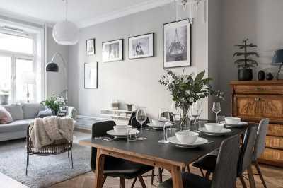 Шведский интерьер гостиной